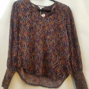 Lucky Brand Multi Color Blouse Size M